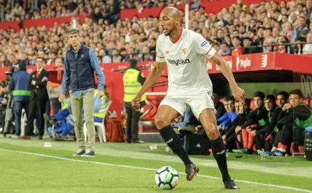 Nzonzi, durante un lance del encuentro entre el Sevilla y la Real Sociedad.