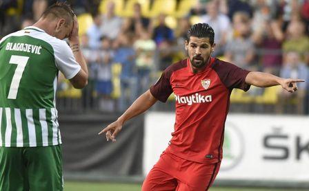 Nolito, autor de dos tantos en el partido frente al Zalgiris.