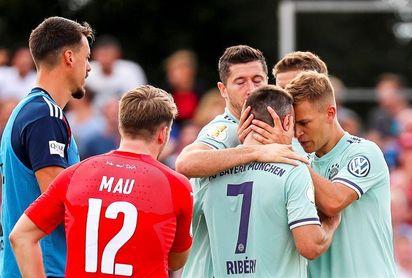 Lewandowski desatasca al Bayern ante el Drochtersen, de regional