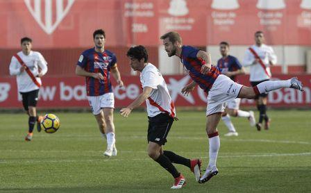 Carlos Fernández, durante un partido con el Sevilla Atlético.
