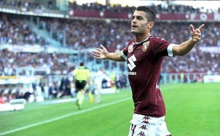 Falqué celebra un tanto con el Torino.