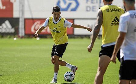 Corchia se ha podido entrenar sólo el lunes y el martes con el Benfica.