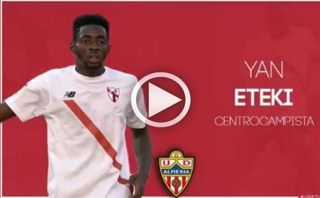 Yan Eteki, nuevo jugador de la UD Almería.
