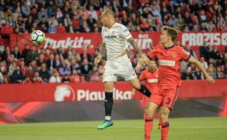 Sandro Ramírez, exjugador del Sevilla FC, cerca de ser jugador de la Real Sociedad.