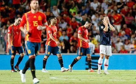 Paliza de España a Croacia