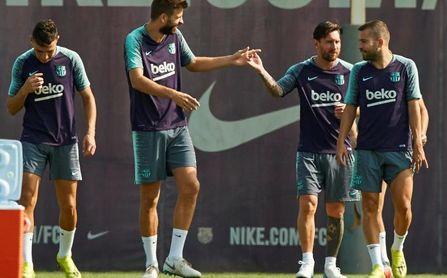 Arthur y Coutinho se suman a los entrenamientos antes de visitar Anoeta