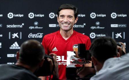 """Marcelino: """"Fijamos toda la atención en la Liga, la Champions es un premio"""""""