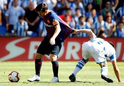 1-2. El Barça remonta en Anoeta a la Real con goles de Luis Suárez y Dembele