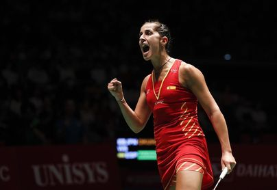 Carolina Marín solventó en 34 minutos su partido de primera ronda