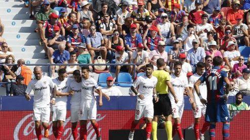 El Sevilla tuvo una efectividad brutal en el estadio del Levante.