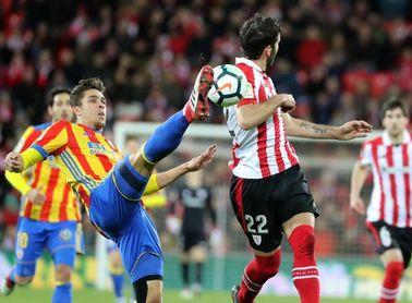 El Valencia empató en su última visita a Bilbao, donde no gana desde 2012