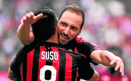 La sociedad entre Higuaín (seis goles y una asistencia) y Suso (2 G. y 6 A.) es lo más peligroso de este Milan.