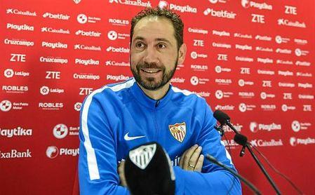 Pablo Machín, en rueda de prensa.