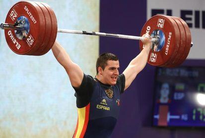 Marcos Ruiz, tres récords de España en categoría 109 kg
