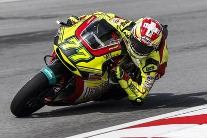 El suizo Dominique Aegerter piloto de MV Agusta Forward en 2019