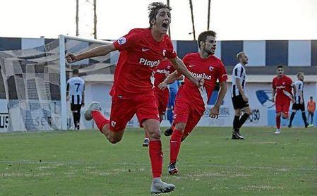Bryan Gil celebra el gol que logró en La Línea, que sirvió para rescatar un punto.