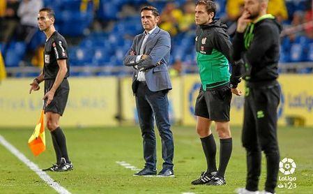 Manolo Jiménez, ayer en el partido ante el Granada.