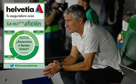 La afición del Benito Villamarín no tiene demasiada prisa por renovar a Quique Setién.