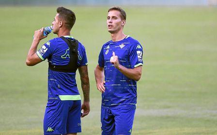 Entrenamiento del Real Betis Balompié.