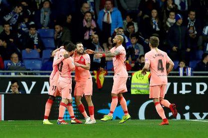 0-3. Messi, Dembélé y Luis Suárez golean al Espanyol en la primera parte
