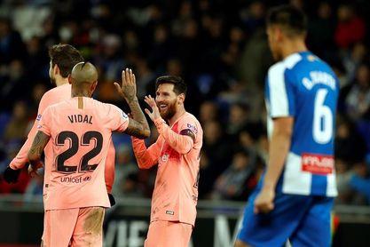 Messi marca en el estadio del Espanyol tres temporadas después