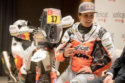 Laia Sanz se llevará al Dakar 150 kilos de equipaje