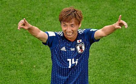 Takashi Inui, con Japón durante el pasado Mundial de Rusia.