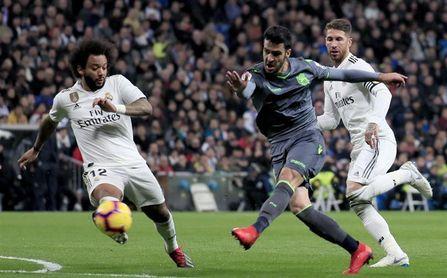 """Mikel Merino reivindica el """"mérito"""" de la Real Sociedad en el Bernabéu"""