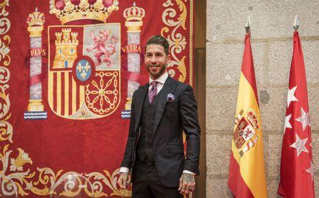 Entrega de los premios 7 estrellas de la Comunidad de Madrid. En la imagen, Sergio Ramos.