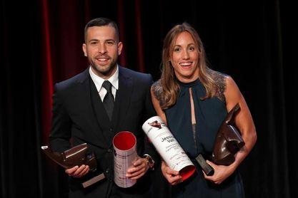Jordi Alba y Jessica Vall elegidos mejores deportistas catalanes de 2018