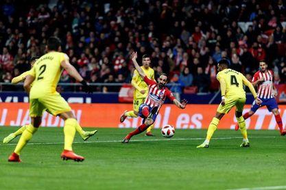 Atlético y Girona empatan en el descanso (1-1)