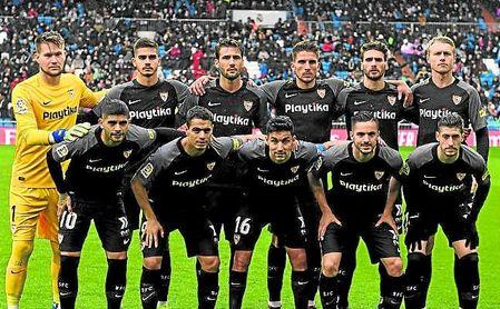 Los once titulares del Sevilla en el Santiago Bernabéu están entre los 12 más utilizados por Machín -sólo faltaba el décimo, Roque Mesa-.