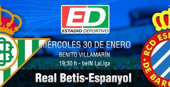 Real Betis-Espanyol: El 'anfitrión' se pide la penúltima ronda