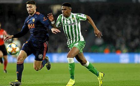 Junior, en el partido de Copa ante el Valencia.