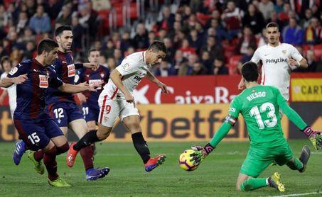 2-2. El Sevilla salva un punto en la prolongación y en inferioridad