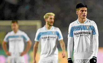 Correa y Luis Alberto, en un partido con la Lazio.