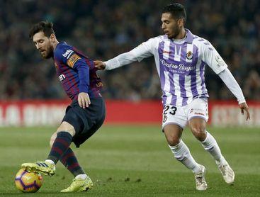 1-0. El Barcelona gana al descanso al Valladolid