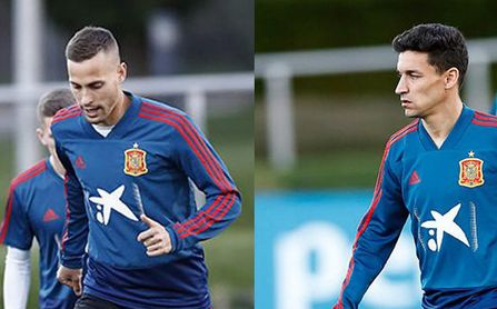 Canales y Navas, entrenándose con España.
