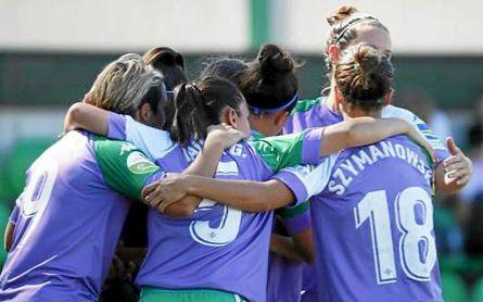 Las jugadoras del Betis Féminas celebrando la victoria ante el Fundación Albacete.
