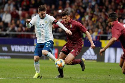 1-3. Venezuela demuestra que con Messi (aún) no basta