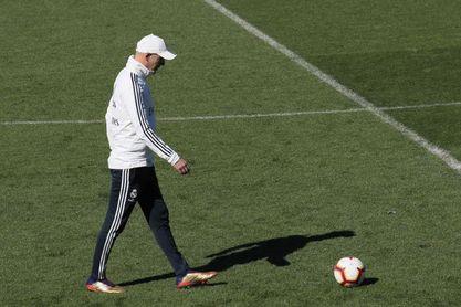 Zidane prepara el partido contra el Huesca con todos los internacionales