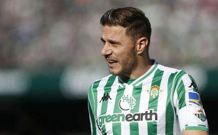 Joaquín, en el partido entre la Real Sociedad y el Real Betis en Anoeta.
