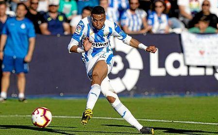 En-Nesyri, en el duelo frente al Espanyol.