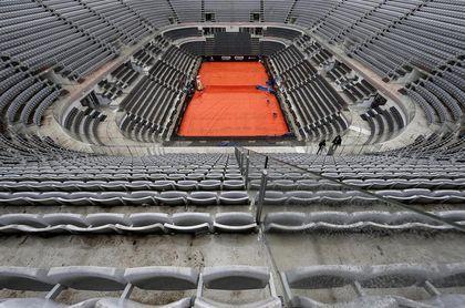 La intensa lluvia pone en duda el debut de Federer, Nadal y Djokovic en Roma