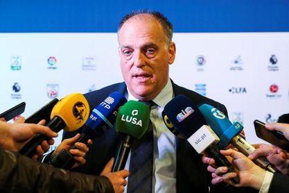 """Tebas: """"Intentaremos jugar un partido de LaLiga fuera la próxima temporada"""""""