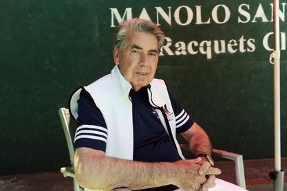 """Manolo Santana: """"He venido a ver ganar a Rafa"""""""