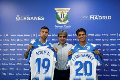 El Leganés presenta a Varela y Ruibal, ex jugadores del Rayo Majadahonda