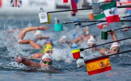 Paula Ruiz llega en el lugar 24 en los 10 kilómetros de aguas abiertas