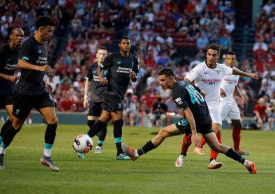 1-2. Nolito y Pozo dan el triunfo al Sevilla ante el Liverpool