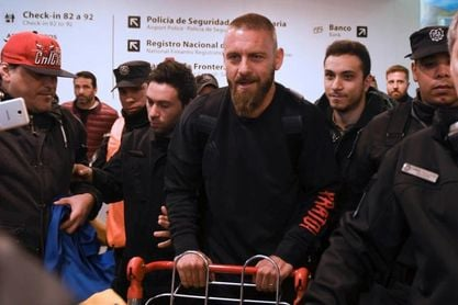 El italiano Daniele De Rossi llega a Argentina para jugar en el Boca Juniors